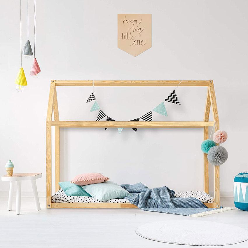 cama de madera montessori