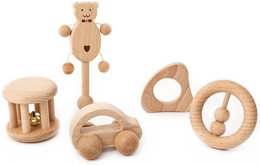 sonajeros en madera natural
